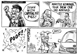 Zapiro on the bourgeoisification of Comrade Blade